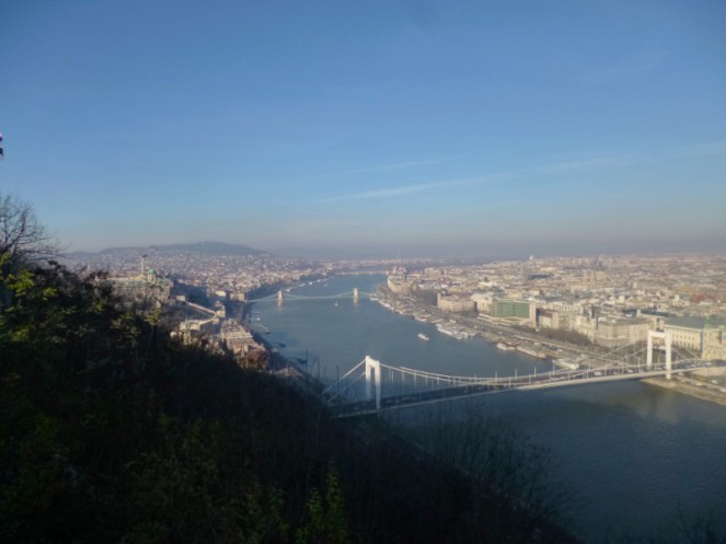 View from the Citadel, Gellert Hill, Budapest, Hungary