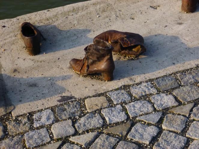Danube shoe memorial, Budapest, Hungary