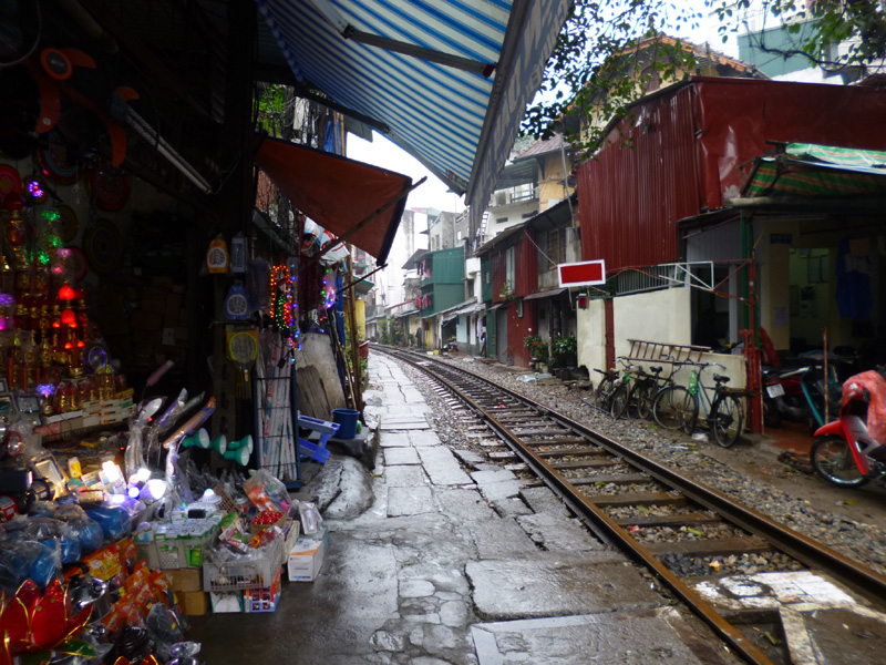 Train street, Hanoi, Vietnam