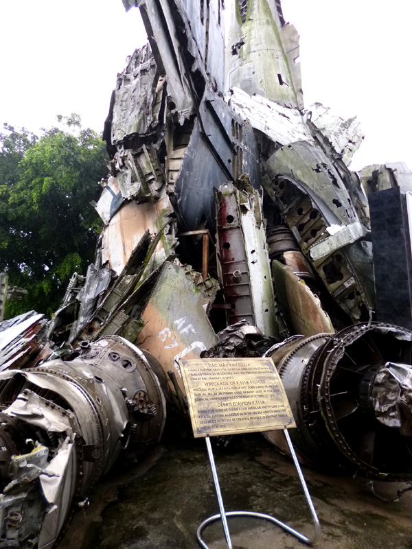 Wreckage of the F111a fighter, military history museum, Hanoi, Vietnam