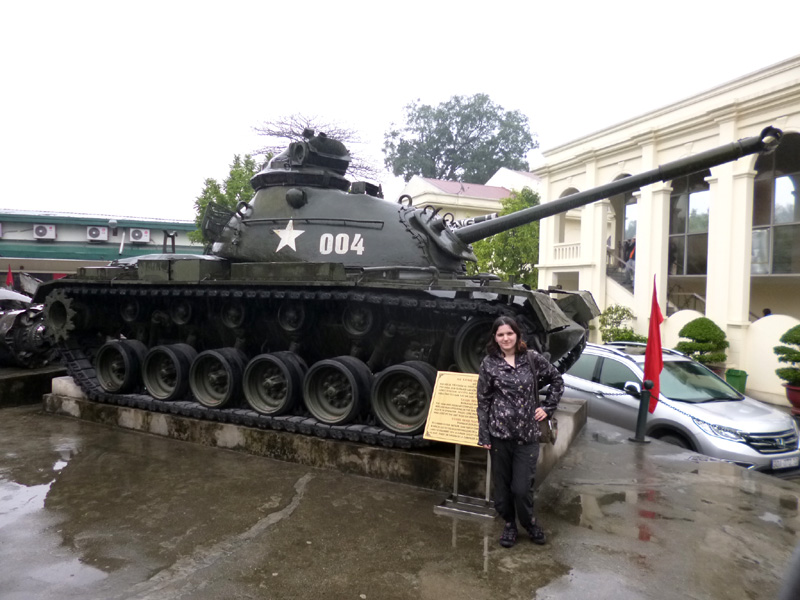 A tank at the military history museum, Hanoi, Vietnam