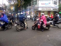 hanoi, vietnam, bikes, scooters