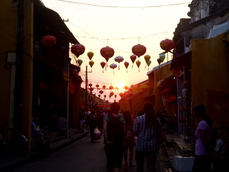 hoi an night time, lanterns, sunset, vietnam