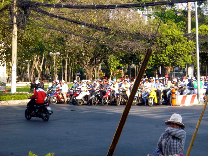 Scooters in Ho Chi Minh City, Vietnam