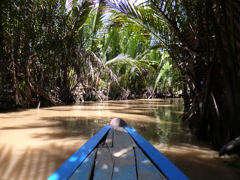 Rowing down the Mekong Delta, Vietnam
