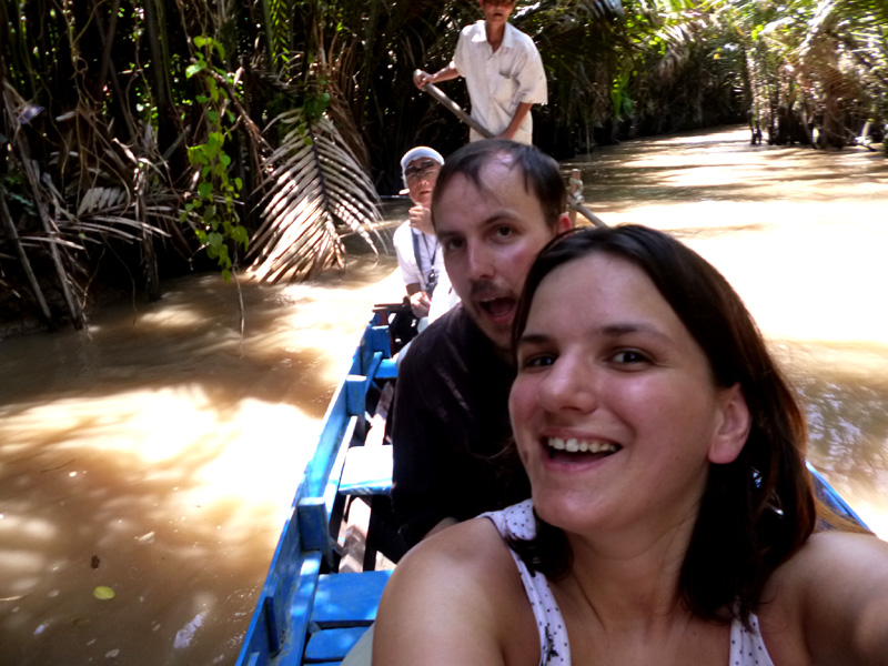 mekong delta tour, rowing boat, river, vietnam