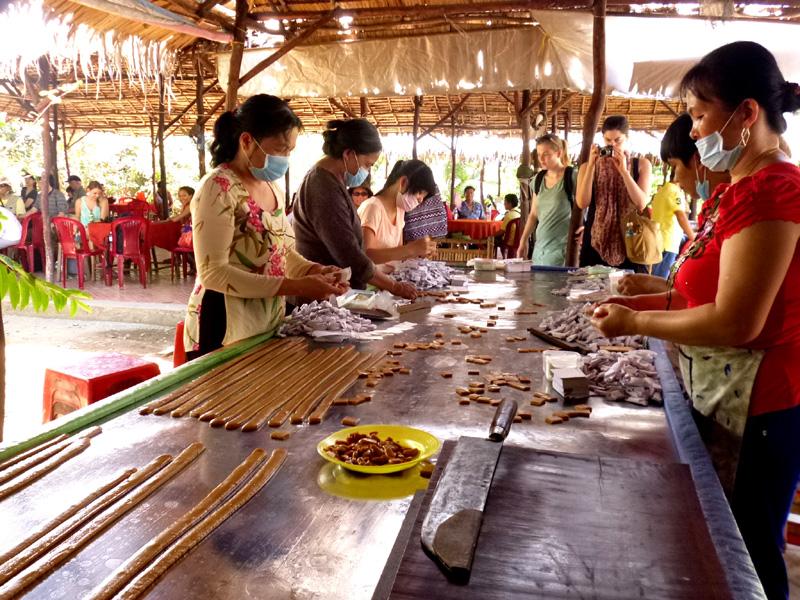 Coconut candy factory, Vietnam