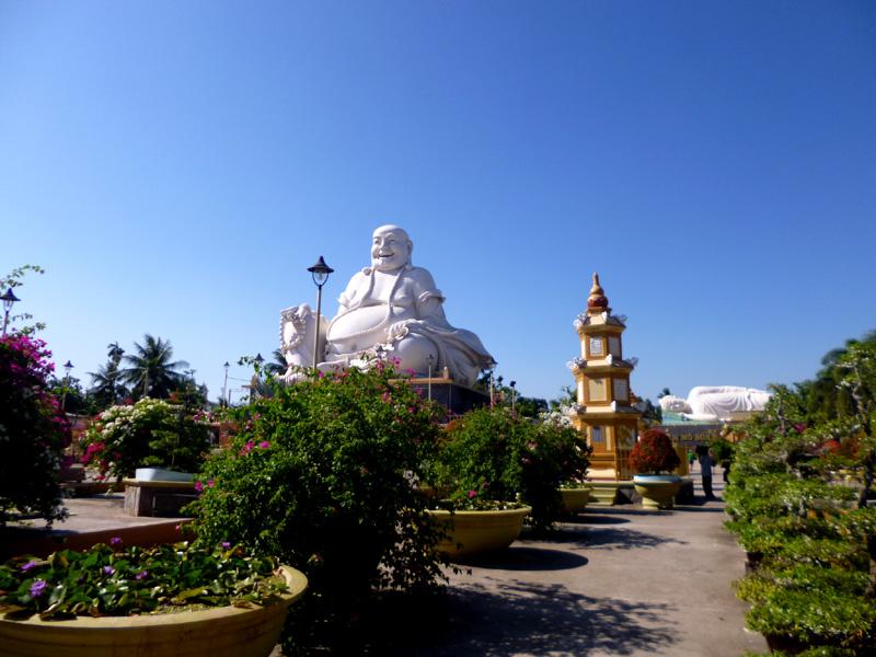 Buddha statues at Vinh Trang temple, Vietnam