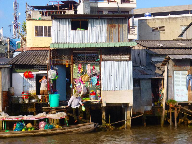 Floating market, Mekong River, Vietnam
