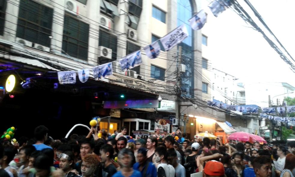 Songkran, Rambuttri street, Bangkok, Thailand