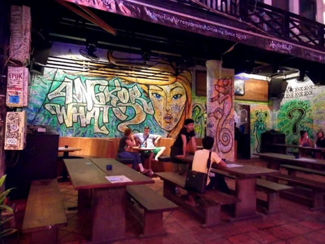 angkor what bar, siem reap, cambodia