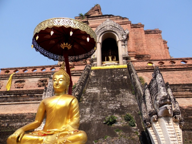 Chedi Luang temple, Chiang Mai, Thailand