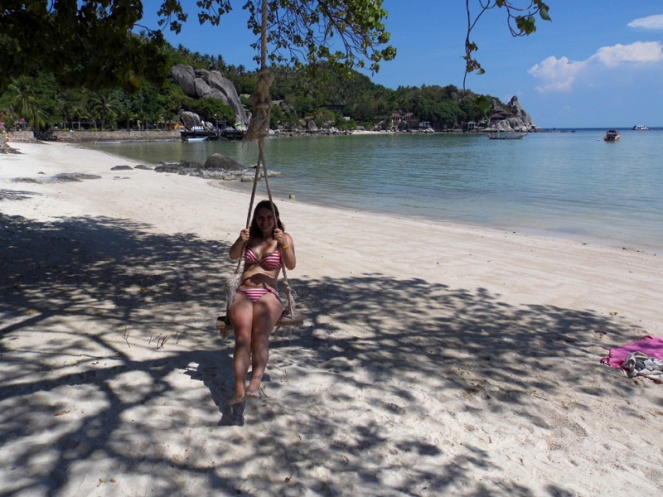 rope swing, koh tao, thailand
