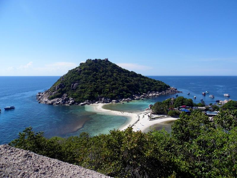 koh nang yuan, koh tao, thailand, hike, view