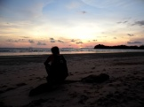 sunset, koh lanta, beach, thailand