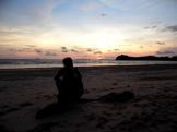 sunset, koh lanta, beach, thailand