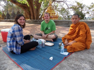 highlights of asia, meditating with a monk, siem reap, cambodia