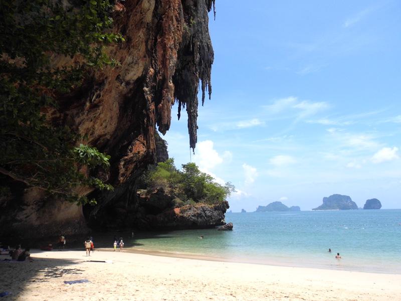 phranang beach, railay, cave, thailand, paradise