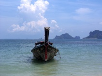 long-tail boat, thailand, railay, phranang beach