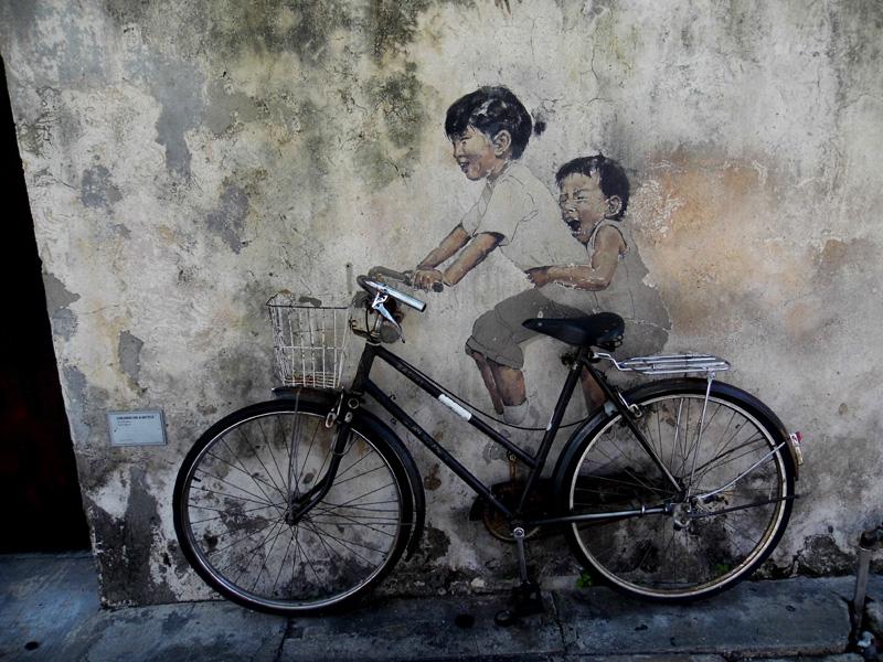Penang bike street art, Malaysia