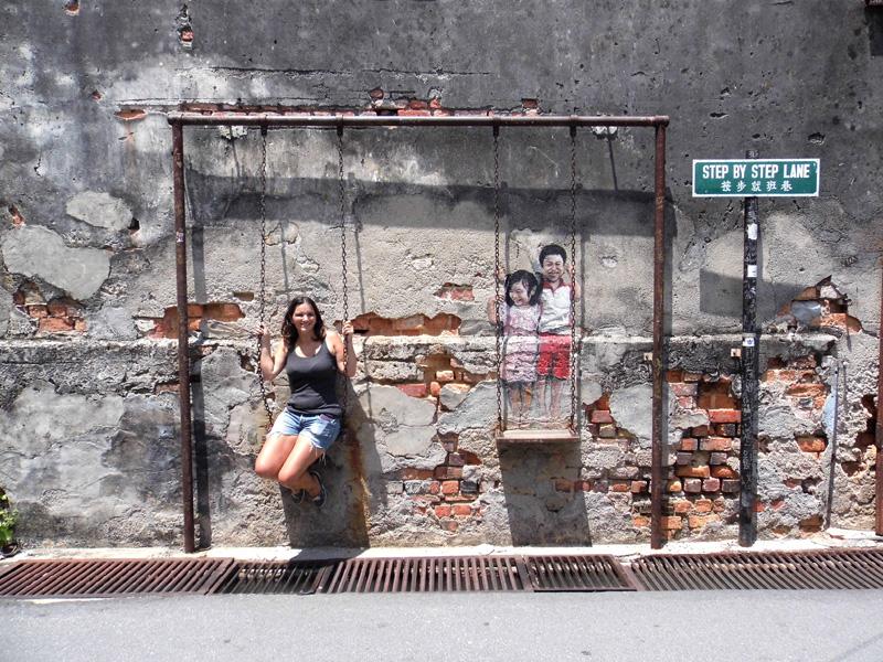 Penang swing street art, Malaysia