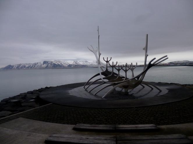 Sun sculpture, Reykjavik, Iceland