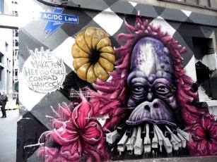 Street art, AC/DC Lane, Melbourne, Australia