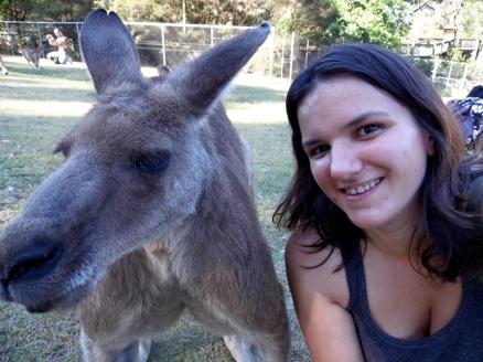 Kangaroo selfie, Lone Pine Koala Sanctuary, Brisbane, Australia