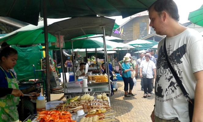 Thailand street food market