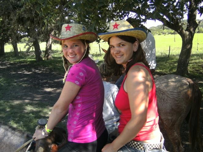 horse riding on a ranch in texas, usa