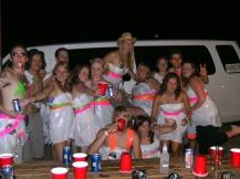 Bin bag party, ranch in Utah, USA