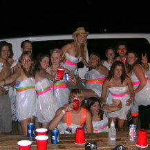 Bin bag party, ranch in Utah, USA