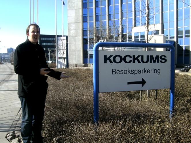 Kockums sign, Malmo, Sweden