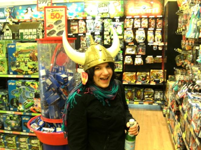 Viking helmet, Copenhagen, Denmark