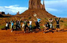 "monument valley, ""we made the brochure!"" photo, trek america"