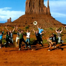 "monument valley, ""we made the brochure!"" photo, trek america"