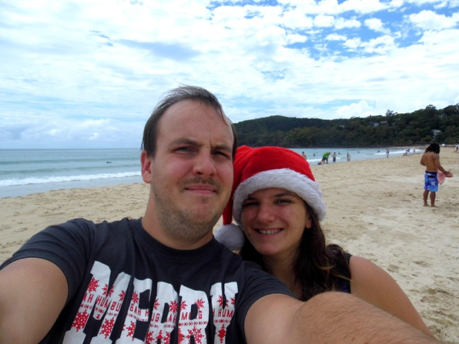 Christmas on the beach, Noosa, Australia