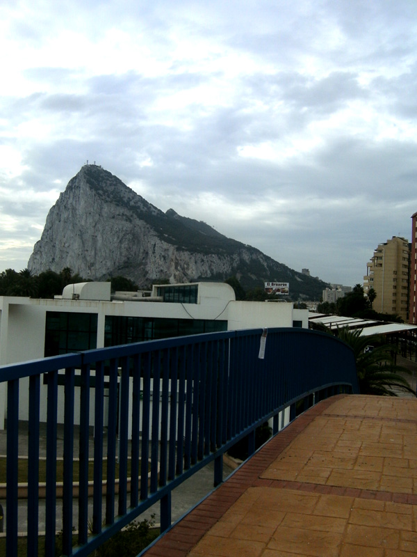 gibraltar rock from spain