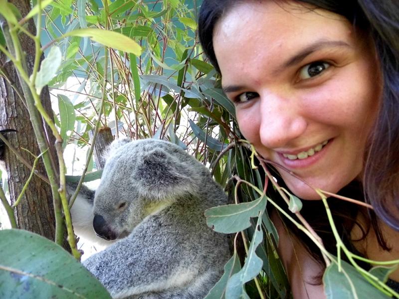 Australia Zoo koala selfie