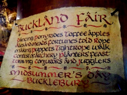 Buckland Fair sign, Green Dragon, Hobbiton, Lord Of The Rings, New Zealand