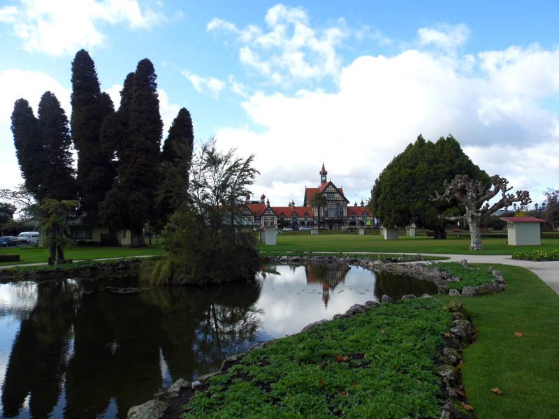 Rotorua museum and gardens, New Zealand