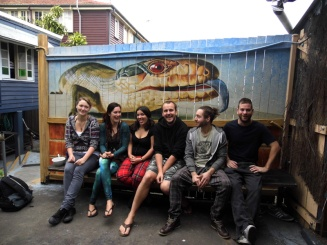 Friends, Bluetongue backpackers hostel, Brisbane, Australia
