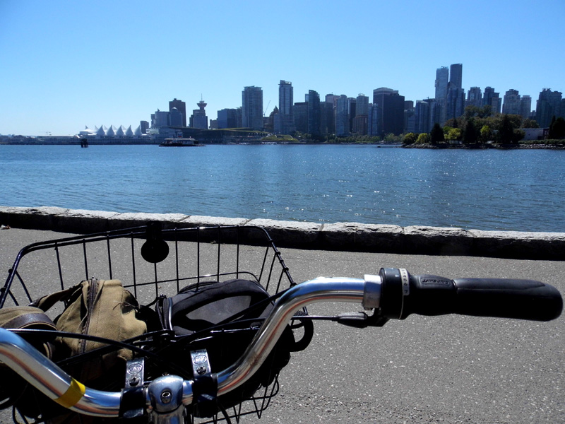 Cycling around Stanley Park, Vancouver, Canada
