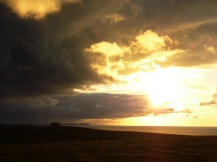 Sunset with stormy clouds, Orkney