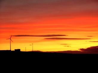 sunset, orkney, scotland, island