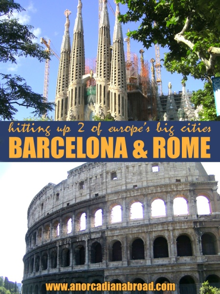 Four days, two cities. Visit Barcelona, Spain, and Rome, Italy in one trip! Say hello to Park Guell, the Sagrada Familia, the Colisseum, Vatican City, Trevi Fountain & much more!