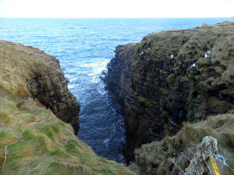 gloup, orkney, coastline
