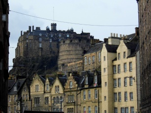 edinburgh castle from grassmarket old town