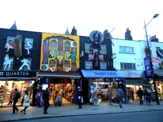 camden high street, markets, london, goth, punk, alternative
