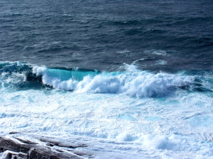 waves at brough of birsay, orkney
